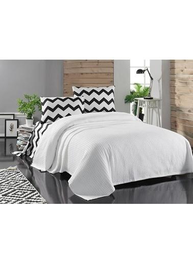 Eponj Home Paint Pike Takımı Çift Kişilik Zigzag  Beyaz